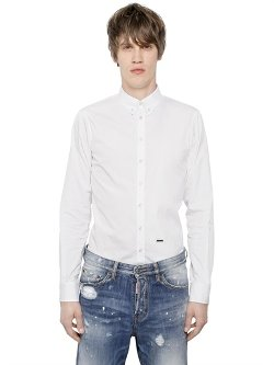 Dsquared2 -  Cotton Poplin Button Down Shirt