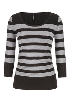 Maurices - Stripes In Gray Combo Pullover Sweater