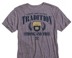 Adidas - Notre Dame Football Tri Blend 125 Years Tshirt