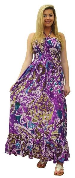 La Leela - Allover Long Smocked Tube Dress