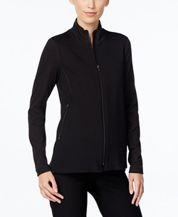 Eileen Fisher  - Mock-Turtleneck Zip-Front Jacket