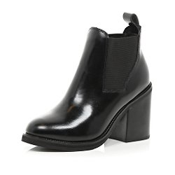 River Island - Black Block Heel Ankle Boots