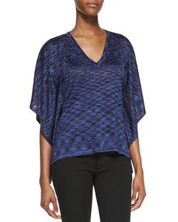 Michael Kors  - Space-dye V-Neck Top
