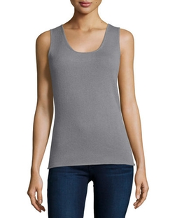 Neiman Marcus Cashmere Collection - Scoop-Neck Cashmere Tank