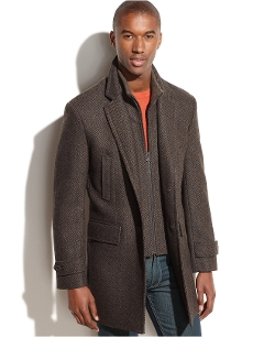Michael Michael Kors - Wool-Blend Herringbone Walking Coat