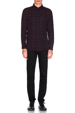 John Elliott - Flannel Button Down Shirt
