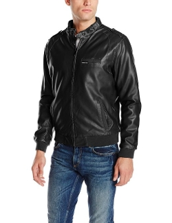 Members Only - Faux-Leather Iconic Racer Jacket