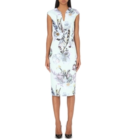 Ted Baker  - Bavaria Torchlit Floral Print Midi Dress