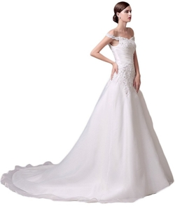 Eudolah - Gorgeous Off Shoulder Wedding Dress
