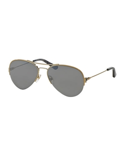Tory Burch - Metal Aviator Sunglasses