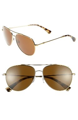 Emporio Armani - 57mm Aviator Sunglasses
