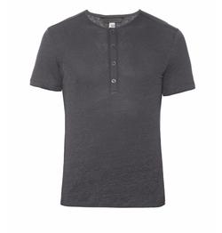 John Varvatos - Henley Linen-Jersey T-Shirt