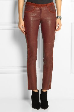 Isabel Marant - Dana Suede Leather Skinny Pants