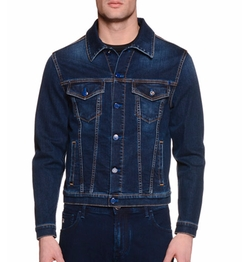 Stefano Ricci  - Contrast-Stitch Denim Jacket