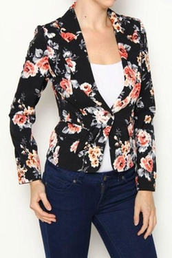 A Little Bit Hippy - Floral Blazer
