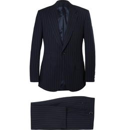 Kingsman - Single-Breasted Pinstriped Suit