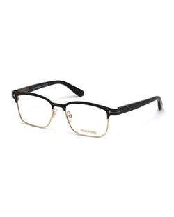 Tom Ford - Shiny Metal Square Eyeglasses