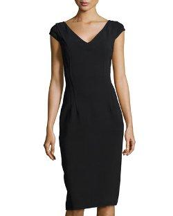 Michael Kors  - V-Neck Princess Sheath Dress