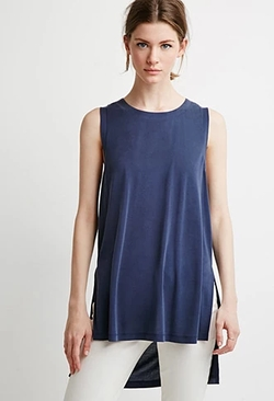 Forever 21 - Contemporary Side-Slit Muscle Tee