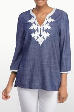 NYDJ - Washed Chambray Tunic