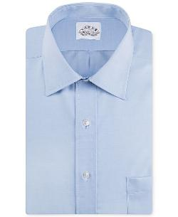 Eagle - Big and Tall Non-Iron Blue Pinpoint Solid Dress Shirt
