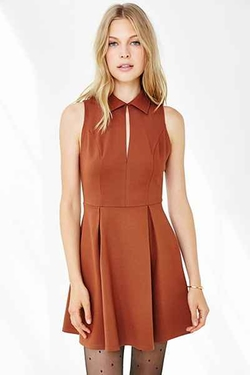 Urban Outfitters - Cooperative Ponte Collared Keyhole Dress