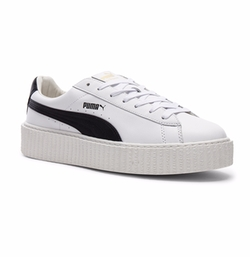 Fenty By Puma - Cracked Leather Creeper Sneakers