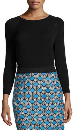 Milly - Round-Neck Raglan-Sleeve Pullover