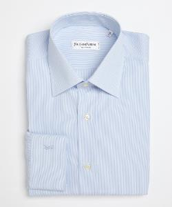 Yves Saint Laurent - Stripe Long Sleeve Button Down Point Collar Dress Shirt