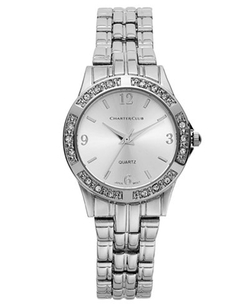 Charter Club - Silver-Tone Bracelet Watch