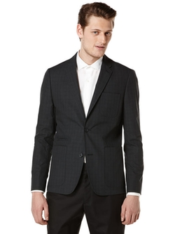 Perry Ellis - Slim Fit Subtle Plaid Suit Jacket
