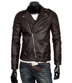 SL - Faux-Leather Moto Jacket