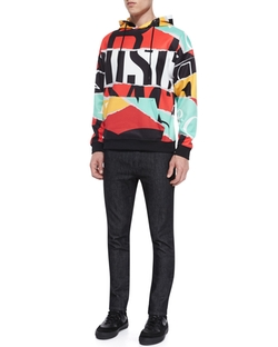 Moschino - Multicolor Large Logo-Print Hoodie