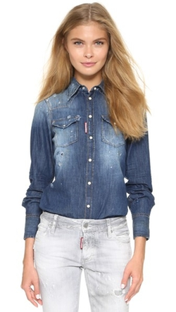 Dsquared2 - Denim Button Down Shirt