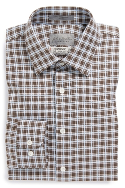 John W Nordstrom Signature  - Signature Trim Fit Check Dress Shirt