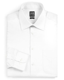 Ike Behar - Solid Cotton Dress Shirt