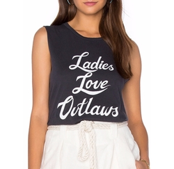 Bandit Brand - Ladies Love Outlaws Muscle Tank Top