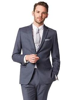 Banana Republic - Tailored-Fit Textured Navy Wool Suit Jacket