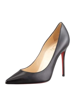 Christian Louboutin - Point-Toe Red Sole Pumps