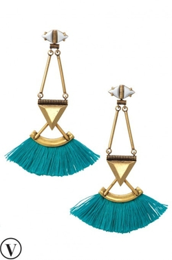 Stella & Dot - Lotus Tassel Chandelier Earrings
