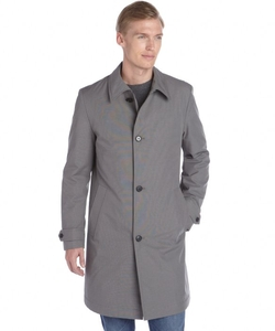 Hugo Boss  - Medium Grey Cotton Blend Rain Coat