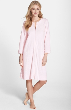 Carole Hochman Designs - Front Zip Waffle Knit Robe