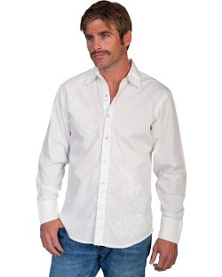 Scully - Tonal Front Embroidered Western Shirt