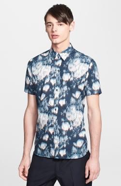 PS Paul Smith - Slim Fit Short Sleeve Floral Print Shirt