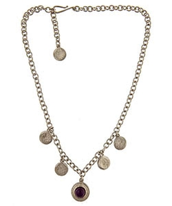 Max And Chloe - Evelyn Knigh Hammered Disc Necklace