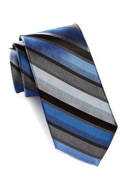Calvin Klein  - Tone Tone Striped Silk Tie