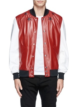 Givenchy - Star Leather Bomber Jacket