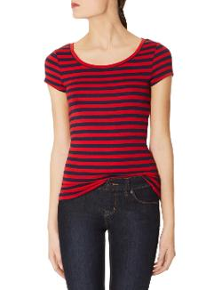 The Limited - Striped Luxe Fit Scoopneck Tee