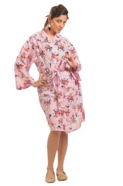 Ibaexports - Kimono Cotton Floral Crossover Robe