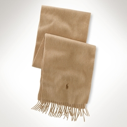 Polo Ralph Lauren - Fringed Cashmere Scarf